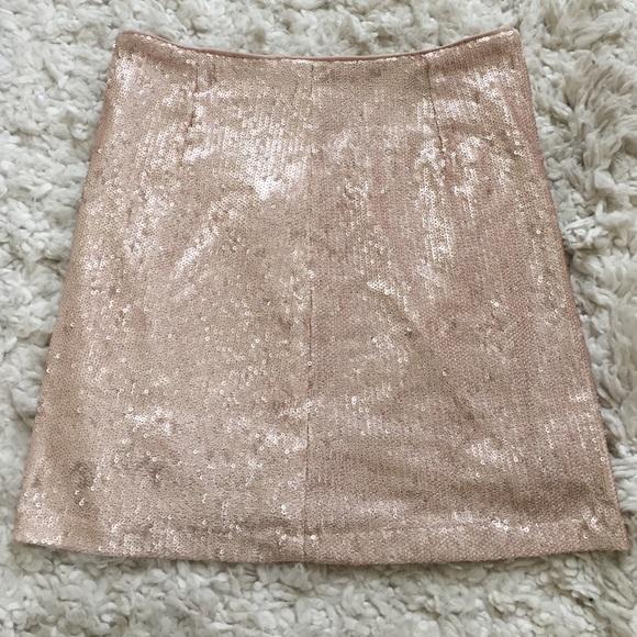b38825cc Forever 21 Skirts   Rose Gold Sequin Mini Skirt S   Poshmark