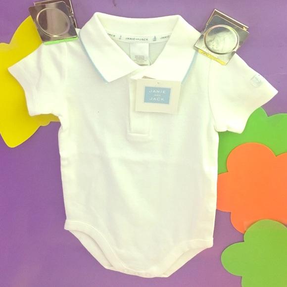 f8e49aee Janie and Jack Shirts & Tops | Nwt Boy Collared Onesie Nautical ...