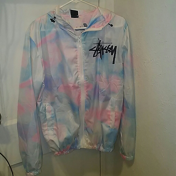 b69721e4c26d Stussy Cotton Candy Tie Dye Windbreaker NWT New