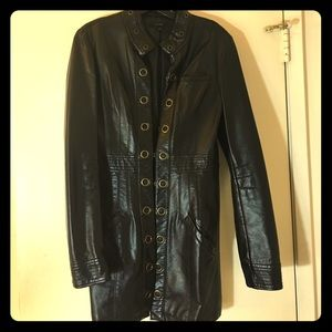 Double Zero Jackets & Blazers - Black Faux Leather Jacket