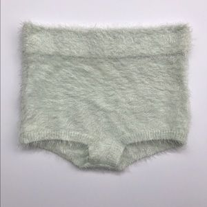 Urban Outfitters Shorts - KIMCHI BLUE Fuzzy Knickers Pin Up Shorts- Mint