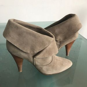 Via Spiga Suede Booties in Stone (grey) Color