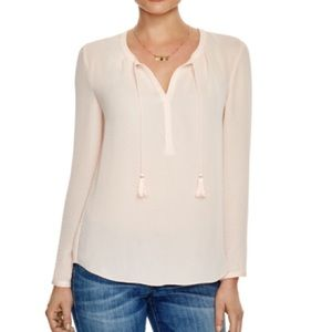 Scotch & Soda Tops - Scotch & Soda peach tassel tie neck blouse top S