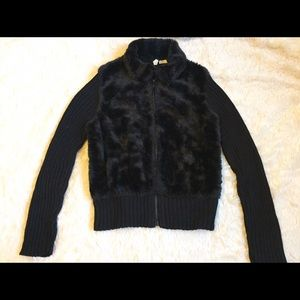 Tiara Jackets & Blazers - Sleek Black Faux Fur Jacket