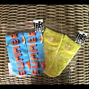 Free Press Accessories - Summer!!! Sock set. Give the gift of summer in Feb