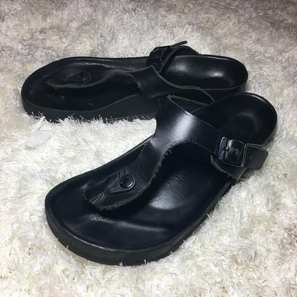 0029dda752b3 Birkenstock Shoes - ALL LEATHER BIRKENSTOCK EXQUISITE GIZEH 8 BLACK 38