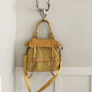 Bed Stu Handbags - Bed Stu Yellow Washed Cascade Convertible Tote