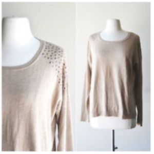89th & Madison Sweaters - 89th & Madison studded embellished sweater 2X