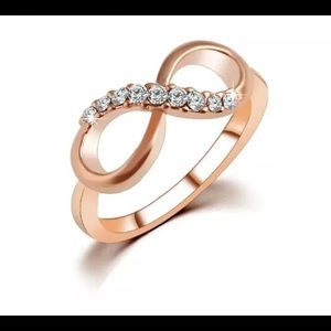 Jewelry - Rose Gold Plated Fine Jewelry Zircon Ring