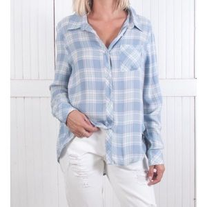 The Laundry Room Tops - Sky Plaid Button Down