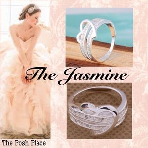 Jewelry - 💜The Jasmine 💜 Sweetheart Ring Platinum with CZ