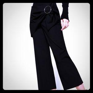 Zara woman cropped buckle pants 2017