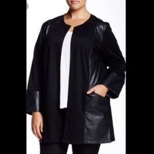 14th & Union Tops - Nordstrom faux leather black open cardigan