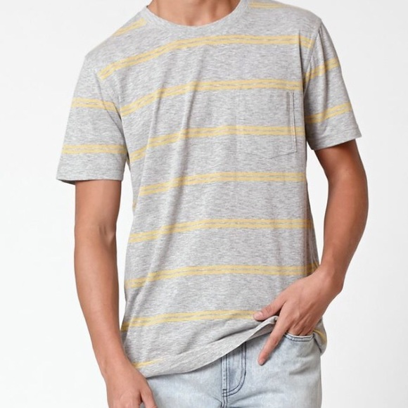 2a77aee85 PacSun Shirts   Nwt Mens Yellow Striped Tee   Poshmark