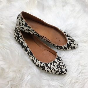 Madewell Shoes - Madewell Black Beige Sidewalk Skimmer Pointed Flat