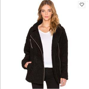 JOA black Sherpa coat