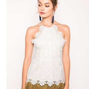 Stone Cold Fox Tops - NWOT Stone Cold Fox Rival Tank in White Lace