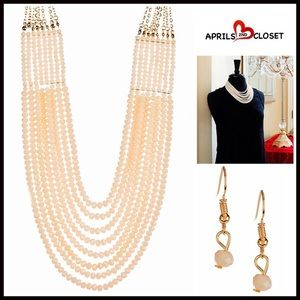 Cloie Jewelry - NECKLACE & EARRINGS SET Glam Statement Set