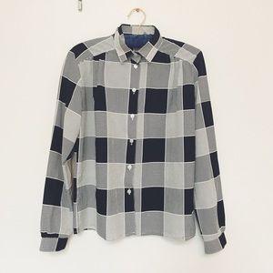 Vintage Tops - Vintage Black&White Shirt