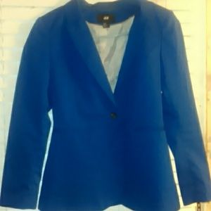 Blue h&m blazer sz 10