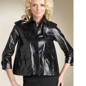 Theory leather jacket S shiny italy oberon button