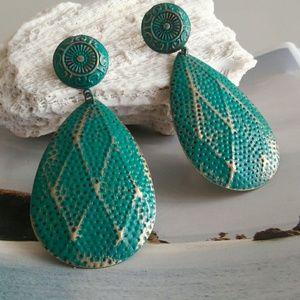 Teardrop Turquoise Post Earring