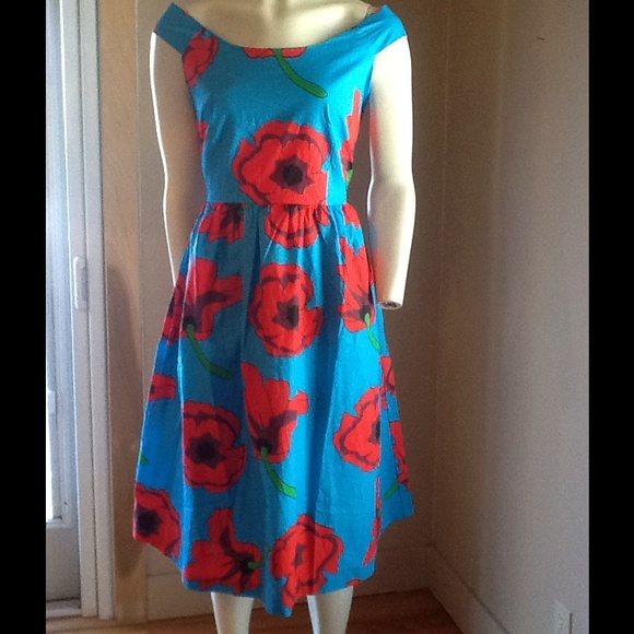e76a30ca415c84 ModCloth Dresses | Happy Yellow Dress Floral Retro Style Dress Nwt ...