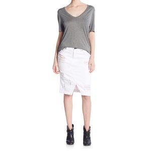 rag & bone Dresses & Skirts - Rag & Bone Denim Skirt in shredded white