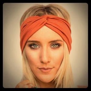 Rust color twisted headband