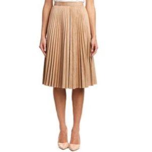 nurture Dresses & Skirts - Faux suede knife pleat midi skirt