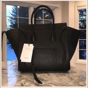 Celine Handbags - BLACK CELINE MEDIUM LUGGAGE PHANTOM