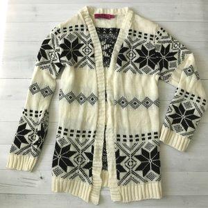 Boohoo Sweaters - Boohoo Snowflake Knit Cardigan