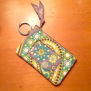 Vera Bradley Zip ID Case in Lemon Parfait