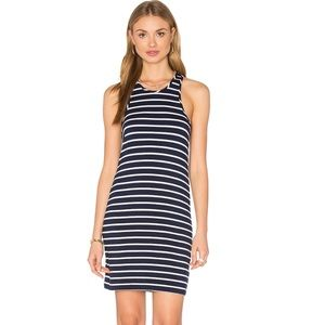Amour Vert Dresses & Skirts - NWT Amour Vert Cotton Racer Back Stripe Dress Navy