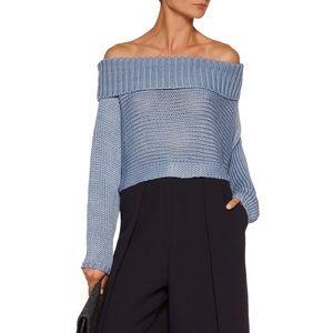 Tibi Sweaters - Tibi Neo Cropped Knitted Silk Top
