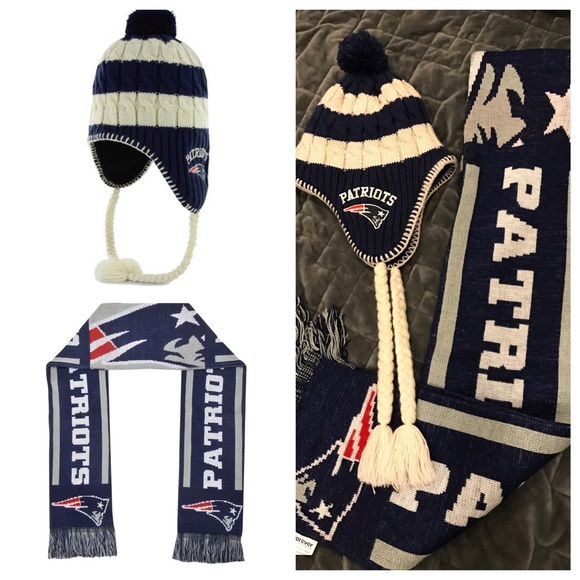 Patriots Hat and Scarf Set 6a9211fdbb9