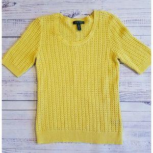Lauren Ralph Lauren Sweaters - Ralph Lauren yellow short sleeve sweater