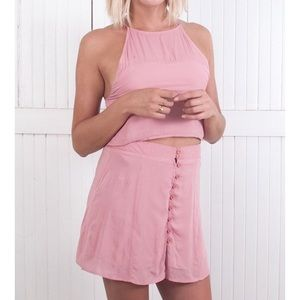 The Laundry Room Tops - Haina Cropped Tank in Rose Pink
