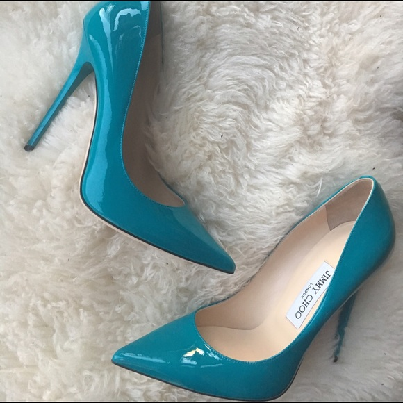 9d56c0a67982f Jimmy Choo Shoes - Jimmy Choo Anouk Turquoise Patent Leather Heels