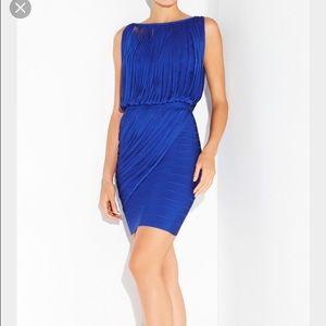HERVE LEGER LEILEI BANDAGE DRESS IN ROYAL BLUE