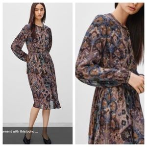Wilfred silk boho dress