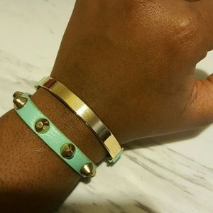 Jewelry - Tiffany blue double bracelet.