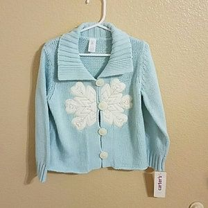 Carter's Other - Carter's NWT Blue Snowflake Cardigan 🎉HP🎉