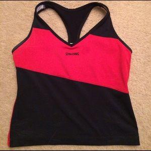 Women's Spalding Red & Black Tank