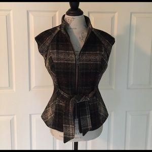 CAbi Jackets & Blazers - 🎉Final Price🎉CAbi Cinch It Up Tweed Zip Vest