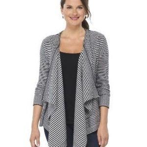 Merona black and white sweater