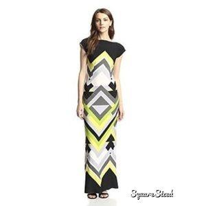 Melissa Masse Dresses & Skirts - Melissa Masse Boat Neck Maxi Bargello Citrus 3x