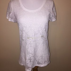 Charlotte Russe Flower lace shirt