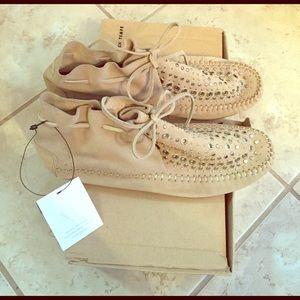 Zara studded laced moccasins size 37
