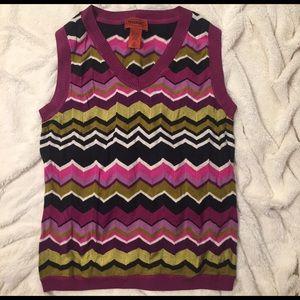 Missoni Sweaters - Missoni Sleeveless Chevron Sweater (vest)